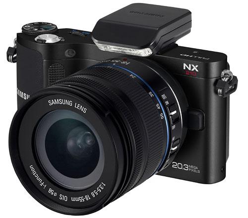 Foto der NX210 von Samsung