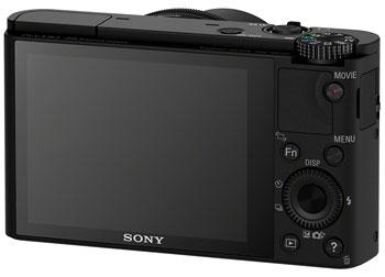 Foto der Rückseite der Sony RX100