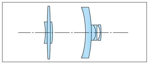 Schnittzeichnung des Tokina Reflex 6,3/300 mm