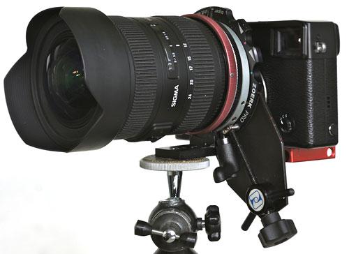 Foto Zörk Pro Shift Rotator an der Fujifilm X-Pro1