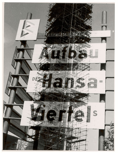 Foto Heinz Hajek-Halke, Hansaviertel, um 1956