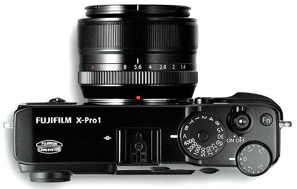 Foto der Oberseite der X-Pro1 von Fujifilm