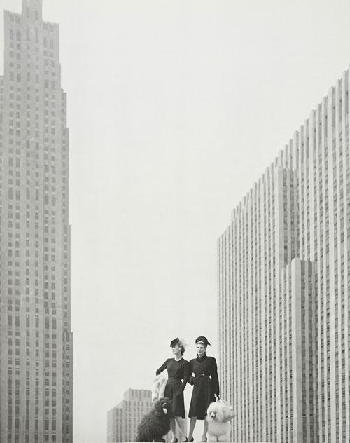 Auf der Dachterrasse von SaKs Fifth Avenue, New York 1942