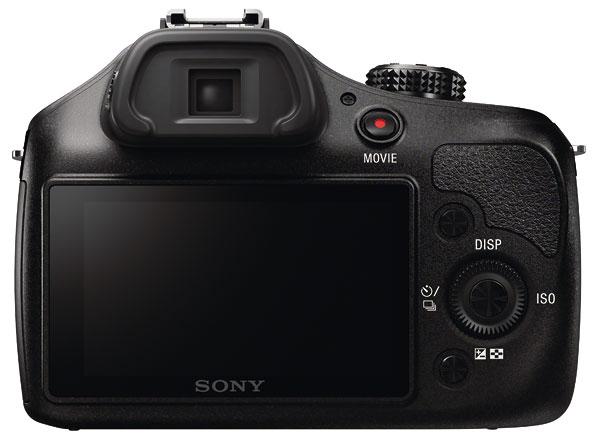 Foto der Rückseite der Sony alpha 3000