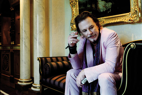 Foto Bryan Adams, Mickey Rourke, London 2005