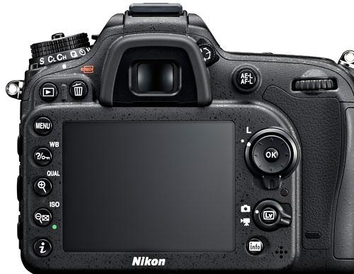 Foto der Rückseite der D7100