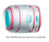 Foto smc Pentax-DA L 4-5,6/50-200 mm ED