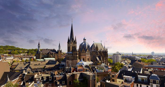 Foto Blick auf den Aachener Dom