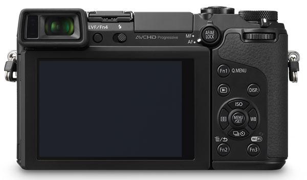 Foto der Rückseite der Lumix GX7