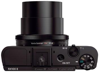 Foto der Oberseite der Cyber-shot RX100 II von Sony