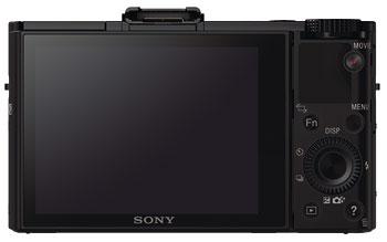 Foto der Rückseite der Cyber-shot RX100 II von Sony