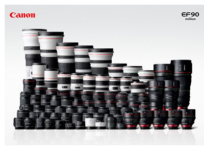 90 Millionen Canon-EF-Objektive