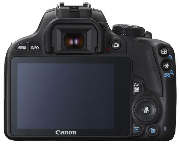 Foto der Rückseite der EOS 100D