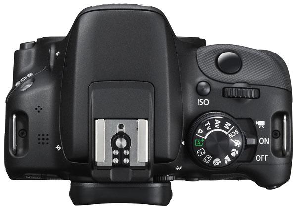 Foto der Oberseite der EOS 100D