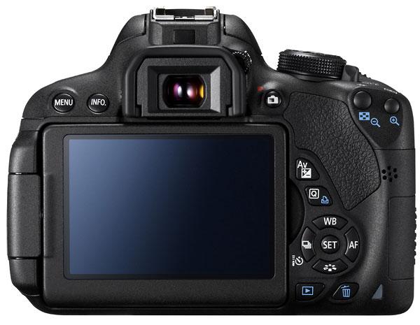 Foto der Rückseite der EOS 700D