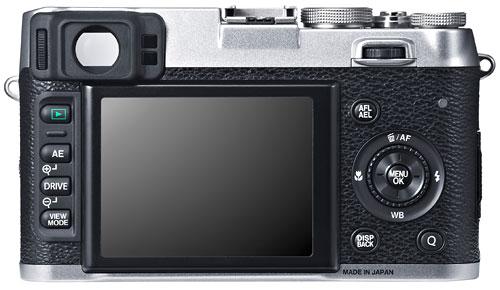 Foto der Rückseite der X100S
