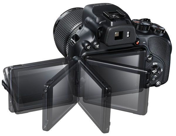 Foto der Rückseite der FinePix HS50EXR