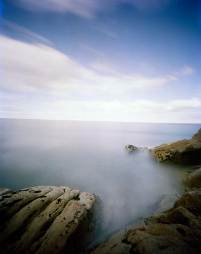 Foto Hanns Zischler, Fels will zurück ins Meer, 2010