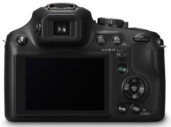 Foto der Rückseite der Lumix FZ72