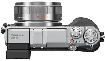 Foto der Oberseite der Lumix GX7