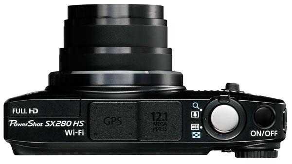 Foto der Oberseite der PowerShot SX280 HS