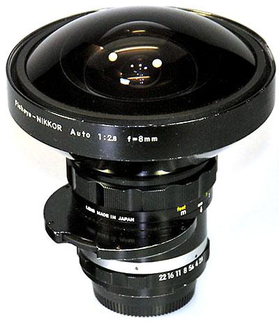 Fisheye-Nikkor 2,8/8mm; Foto Ralf Jannke
