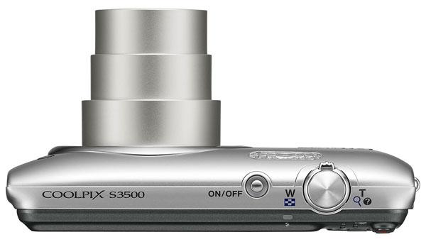 Foto der Oberseite der Coolpix S3500 von Nikon