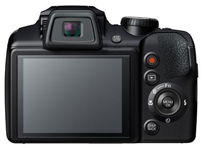 Foto der Rückseite der FinePix S8500