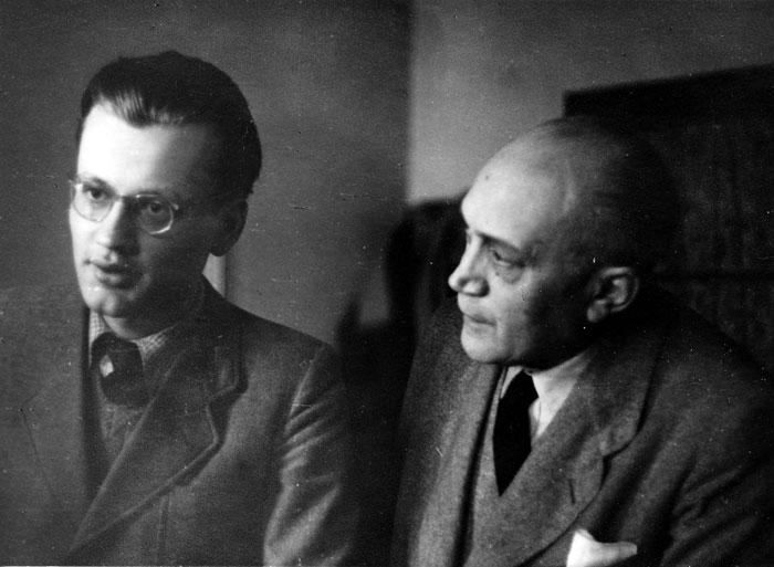 Foto Hans Joseph Schneider (links) und Josef August Schneider (ca. 1948)