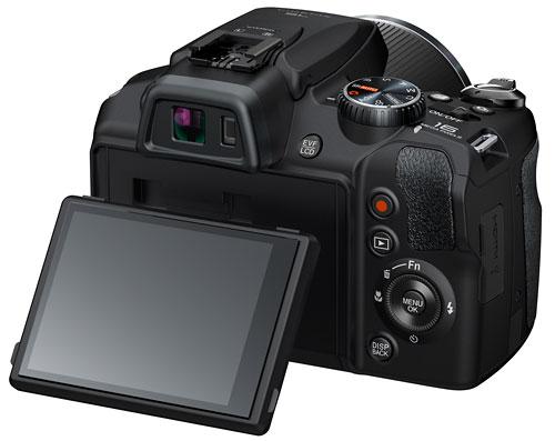 Foto der Rückseite der FinePix SL1000