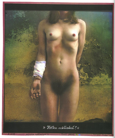 Foto Jan Saudek, Helpless Girl, 1986