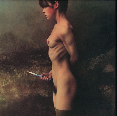 Foto Jan Saudek, The Knife, 1989
