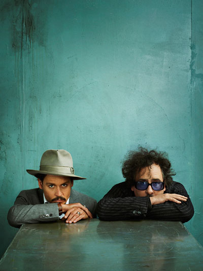 Foto Marc Hom, Johnny Depp & Tim Burton, New York, 2008