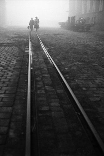 Foto Hans Rudolf Uthoff, Werksbahngleise , Bochum, 1960