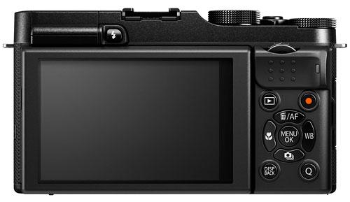 Foto der Rückseite der Fujifilm X-A1