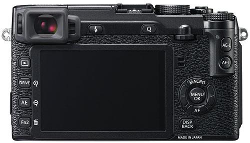 Foto der Rückseite der Fujifilm X-E2