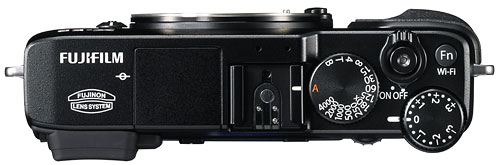 Foto der Oberseite der Fujifilm X-E2