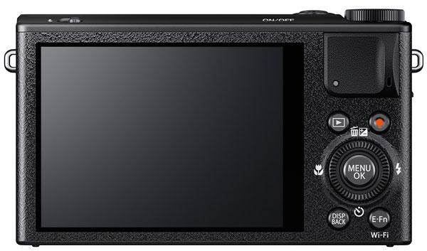 Foto der Rückseite der Fujifilm XQ1