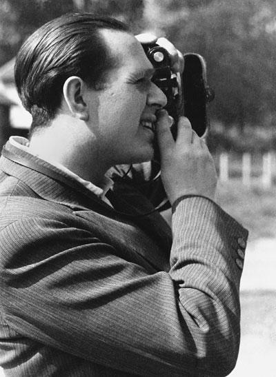 Fred Stein, fotografiert von Lilo Stein, Paris 1935
