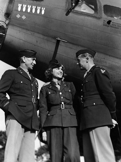 Foto Margaret Bourke-White in Air-Force-Uniform