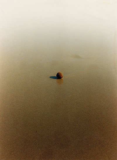 Foto Helga Pasch, Tennisball in Wasserpfütze, um 1989