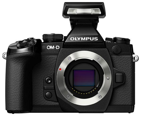 Foto OM-D EM-1 mit Aufsteckblitz FL-LM2