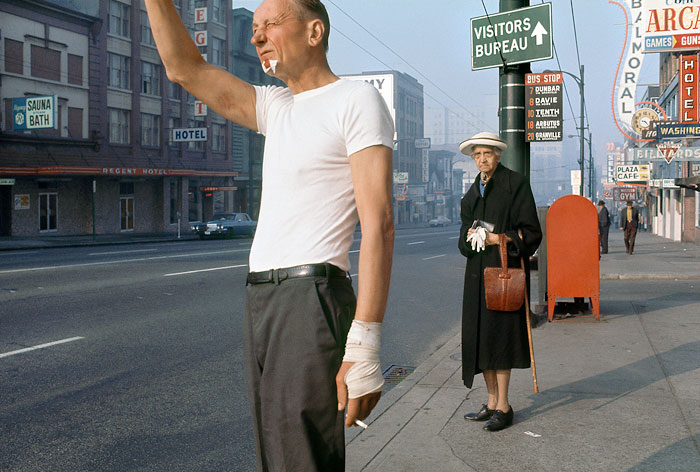 Foto Fred Herzog: Man with Bandage, 1968