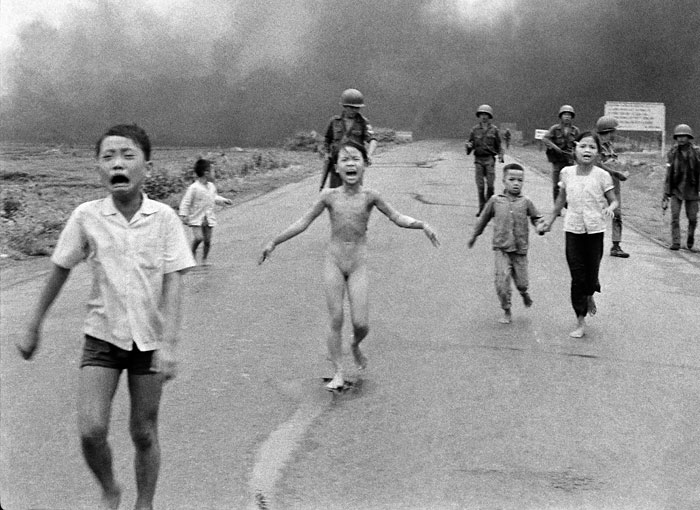 Foto Nick Út: The Associated Press, Napalm-Angriff in Vietnam, 1972