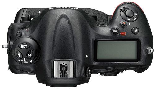 Foto der Oberseite der D4s