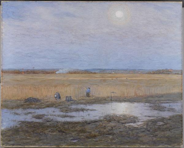 Ernst Eitner, Schilffeld an der Trave, 1893