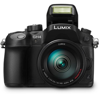 Foto GH4 mit Pop-up-Blitz