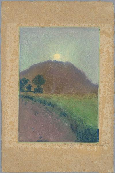 Arthur Illies, Falkenberg im Mondschein, 1896