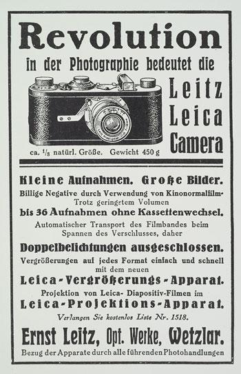 Leica-Werbung von 1927