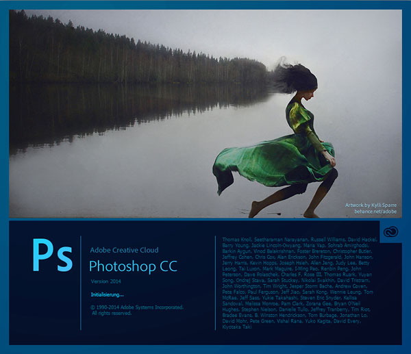 Screen Photoshop CC (Release 2014)